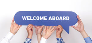 welcome aboard sign for discovery senior living careers