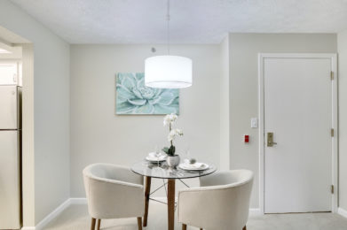 Edgewater Two Bedroom Model Dining Area