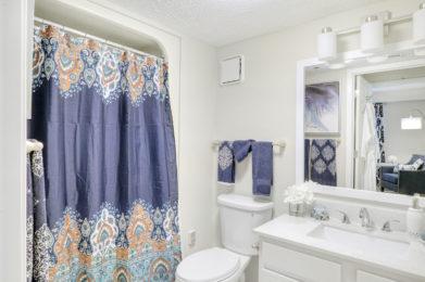 Edgewood One Bedroom Model Shower